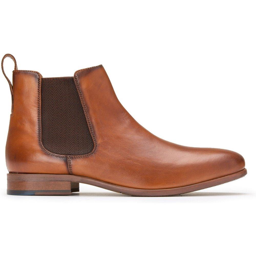 Boots en cuir élastiquée chevron - LA REDOUTE COLLECTIONS - Modalova