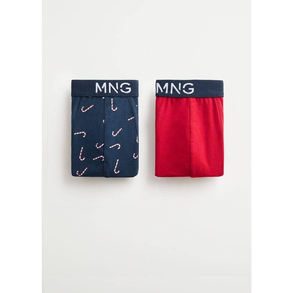 Lot 2 boxers motifs différents - mango man - Modalova