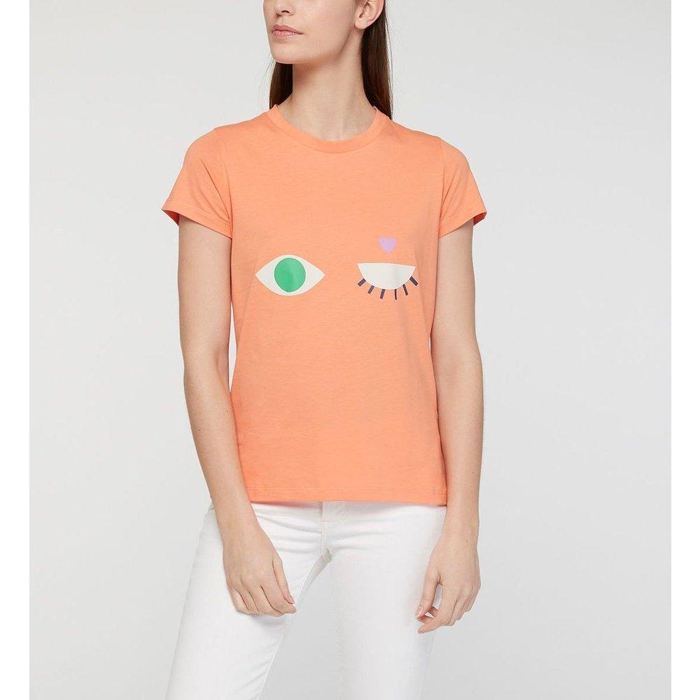 T-shirt Klin D'oeil X Teyes Droit Coton - GALERIES LAFAYETTE - Modalova