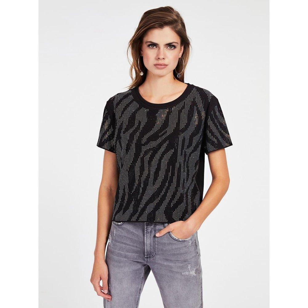 T-Shirt Strass - Guess - Modalova