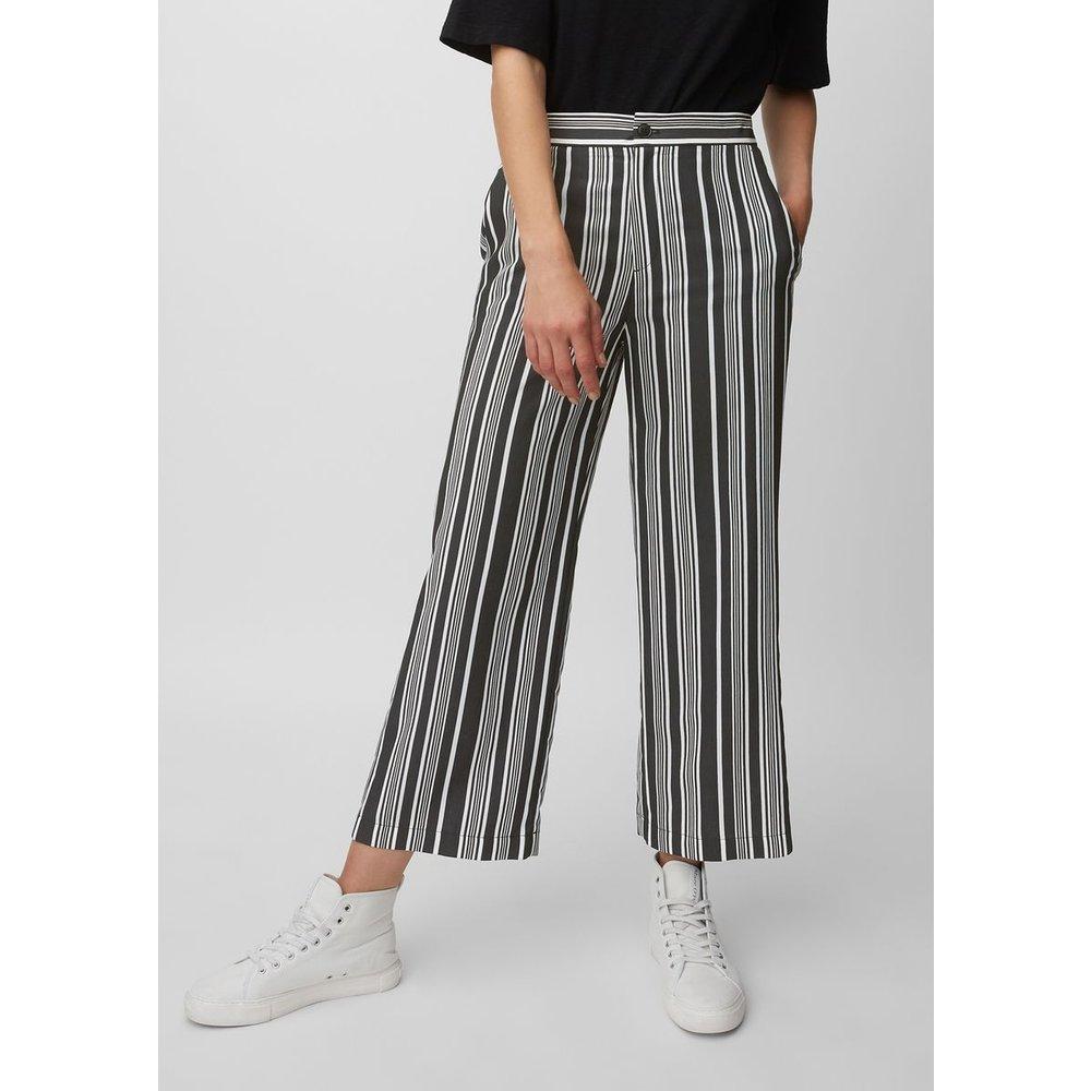 Pantalon en viscose mélangée teintée dans le fil - Marc O'Polo - Modalova