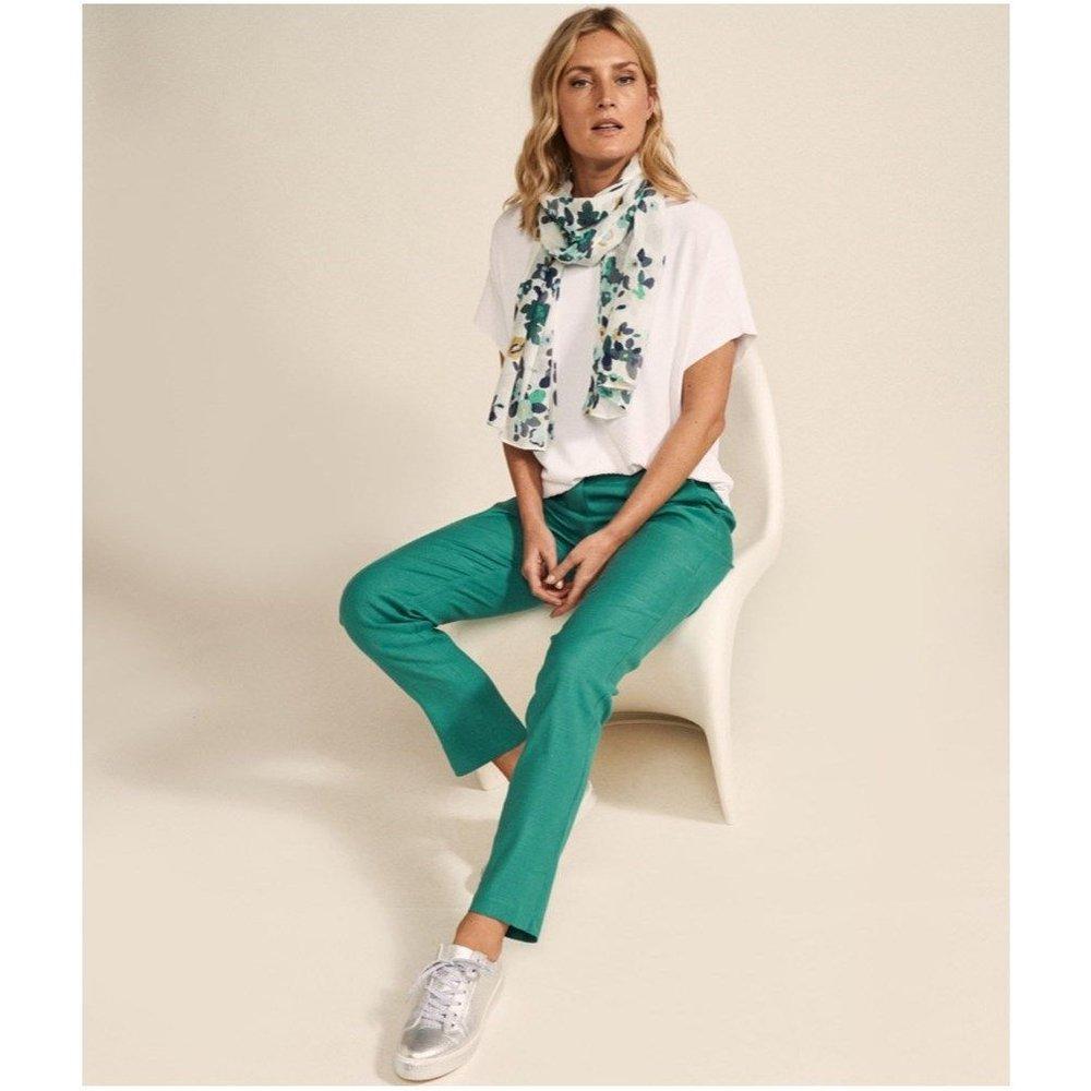 Pantalon lin stretch - DEVERNOIS - Modalova