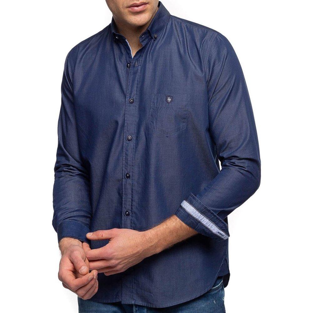 Chemise manches longues aspect jean - SHILTON - Modalova