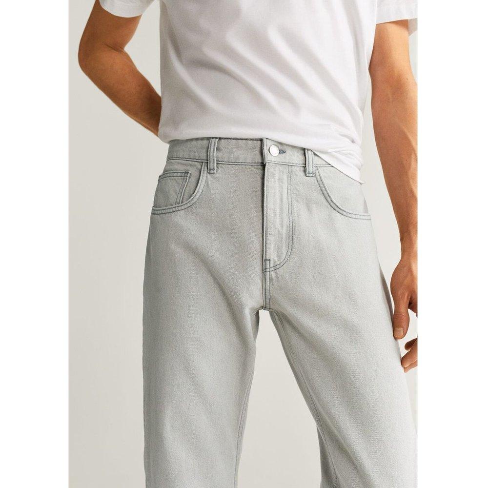Jean tapered-fit gris - mango man - Modalova