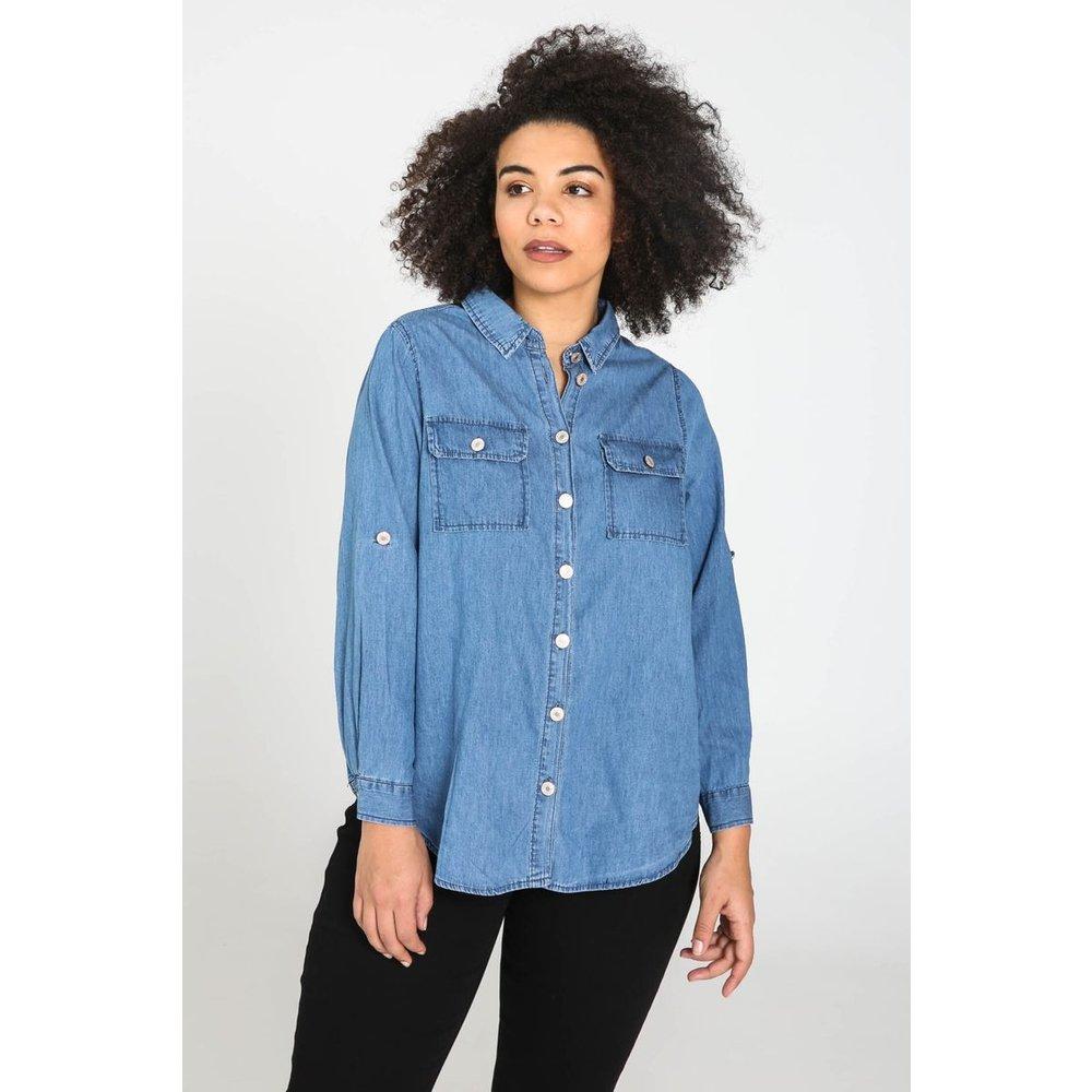 Chemise en jean col chemise manches longues - PAPRIKA - Modalova