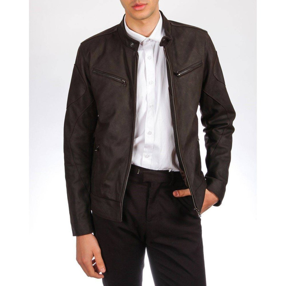 Blouson en cuir épais BRICKY, Made in France - DKS - Modalova