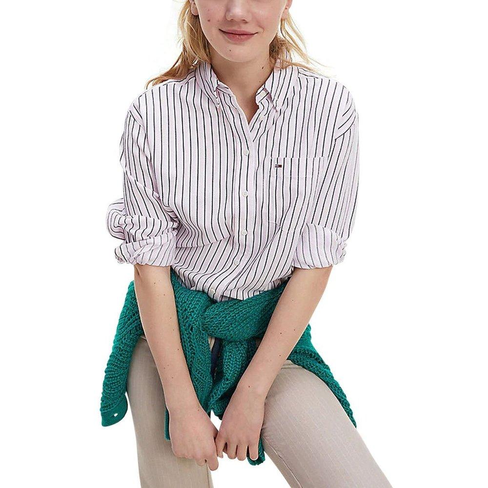 Chemise manches longues rayée - Tommy Hilfiger - Modalova