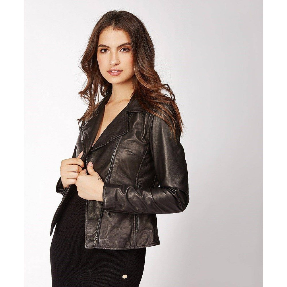 Blouson cuir souple NEW ENVY, made in France - DKS - Modalova