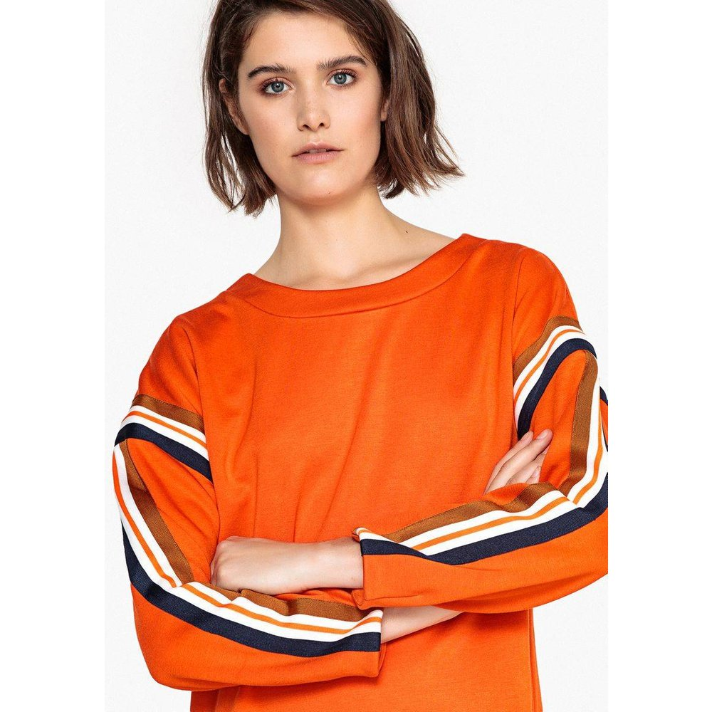 Robe sweat, bandes constrastées - LA REDOUTE COLLECTIONS - Modalova