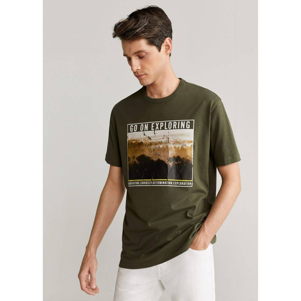 T-shirt National Geographic coton - mango man - Modalova