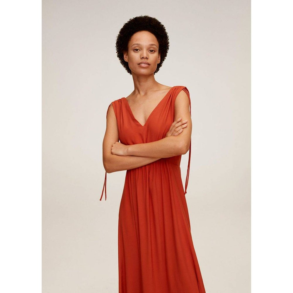 Robe longue noeuds - Mango - Modalova