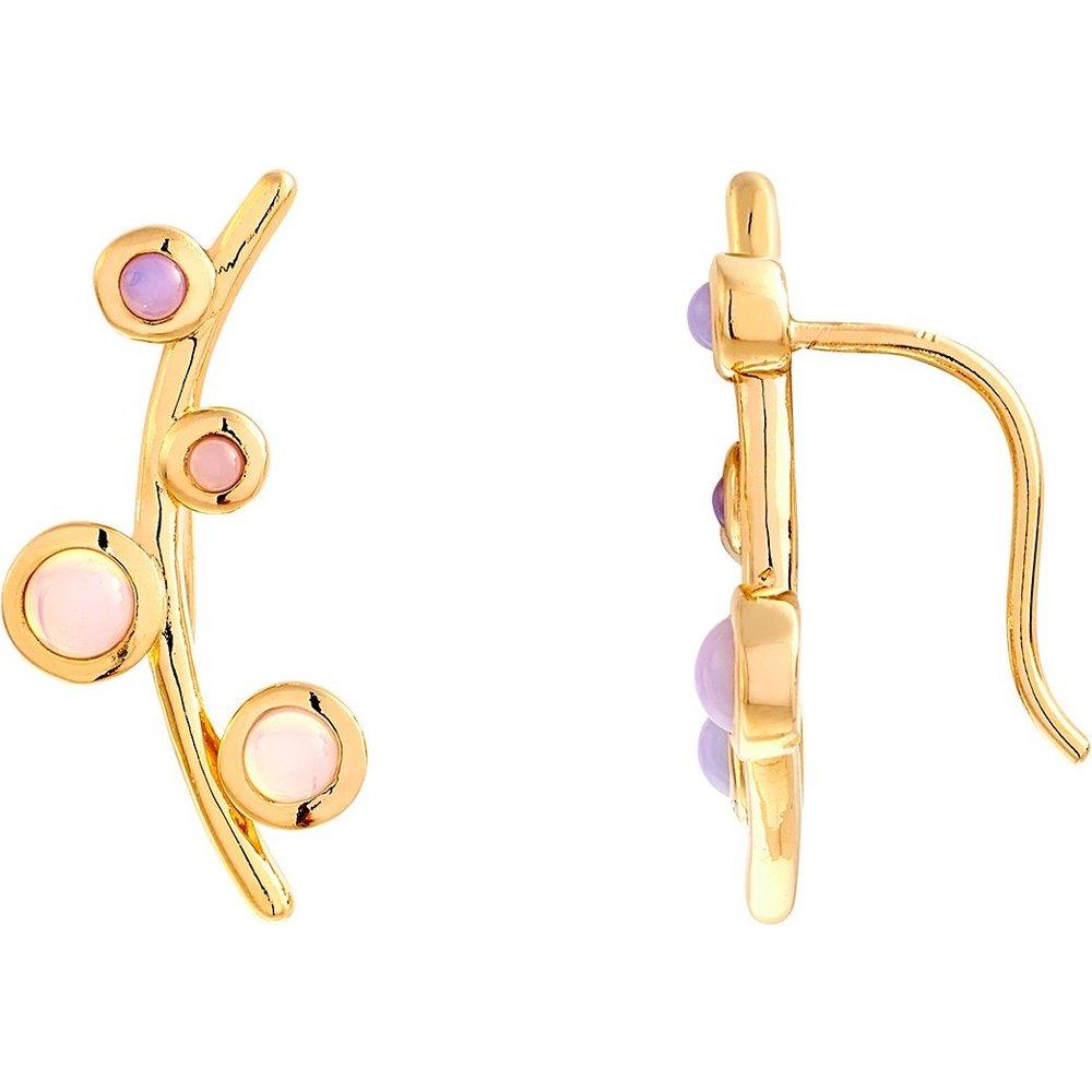 Boucles d'oreilles sont en Plaqué Or et Pierre - CLEOR - Modalova