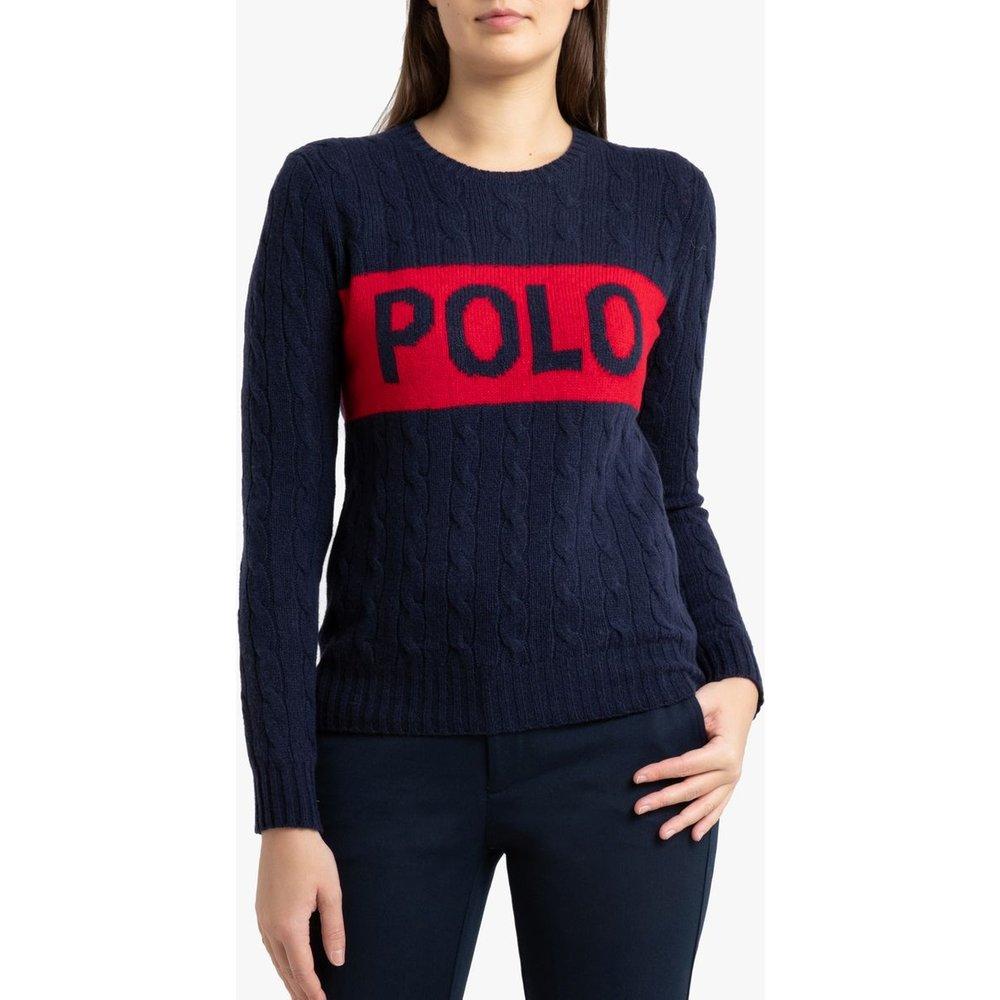Pull col rond en maille torsadée et grand logo - Polo Ralph Lauren - Modalova