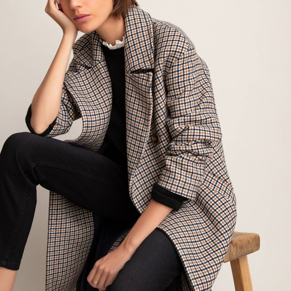 Manteau à carreaux - LA REDOUTE COLLECTIONS - Modalova