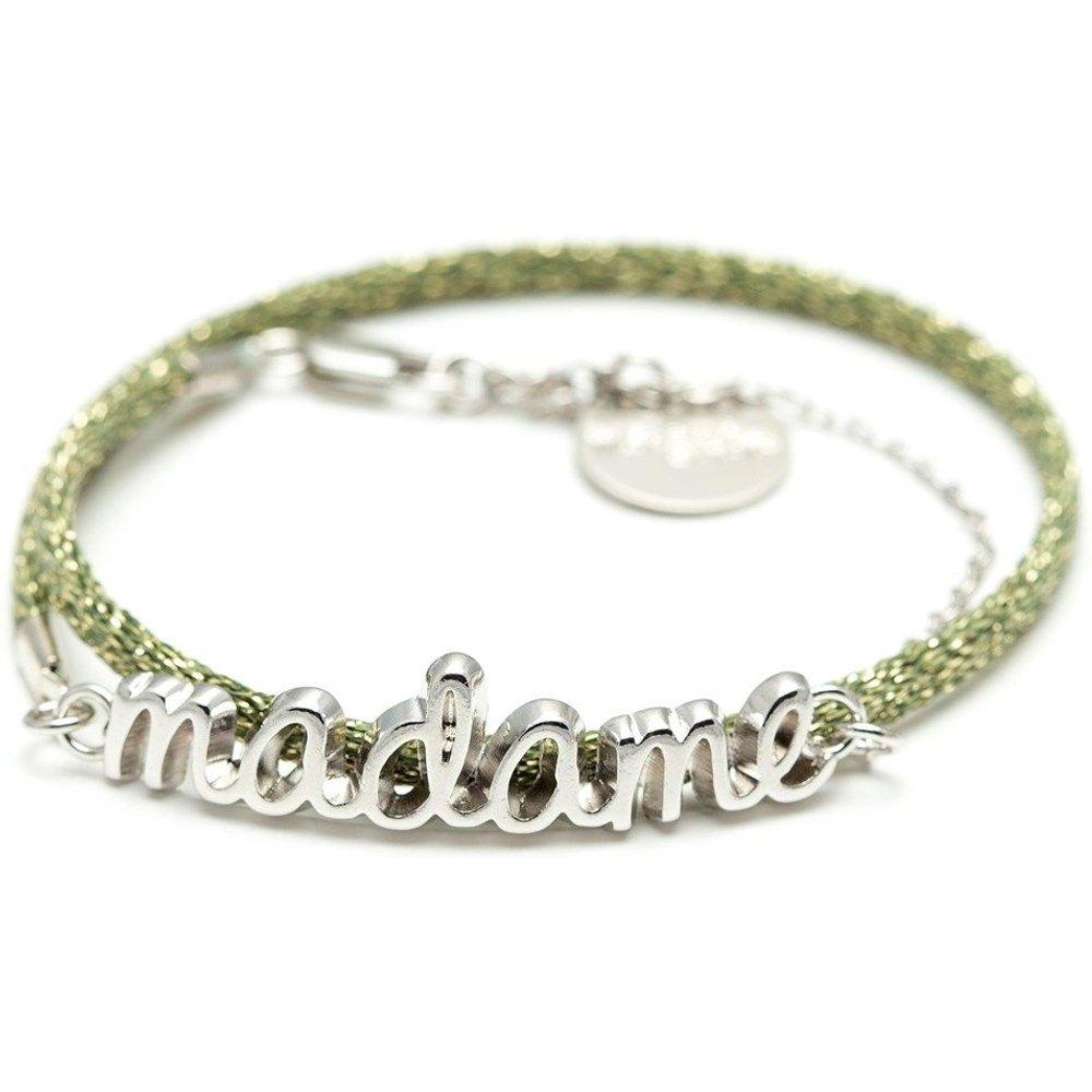 Bracelet cordon plaqué argent MADAME - MONSIEUR SIMONE - Modalova