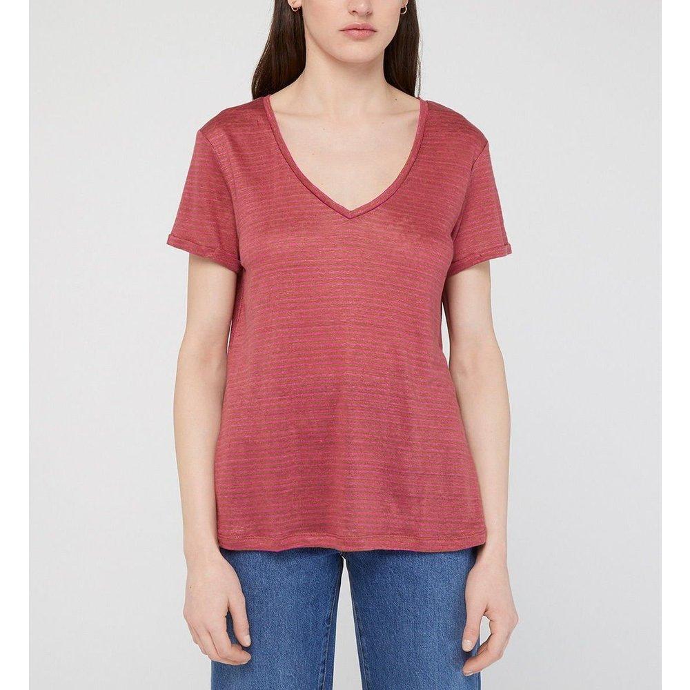 T-shirt Day Droit En Lin Col V - GALERIES LAFAYETTE - Modalova
