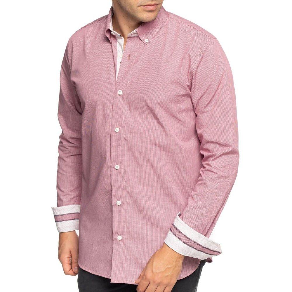 Chemise à petits carreaux manches longues - SHILTON - Modalova