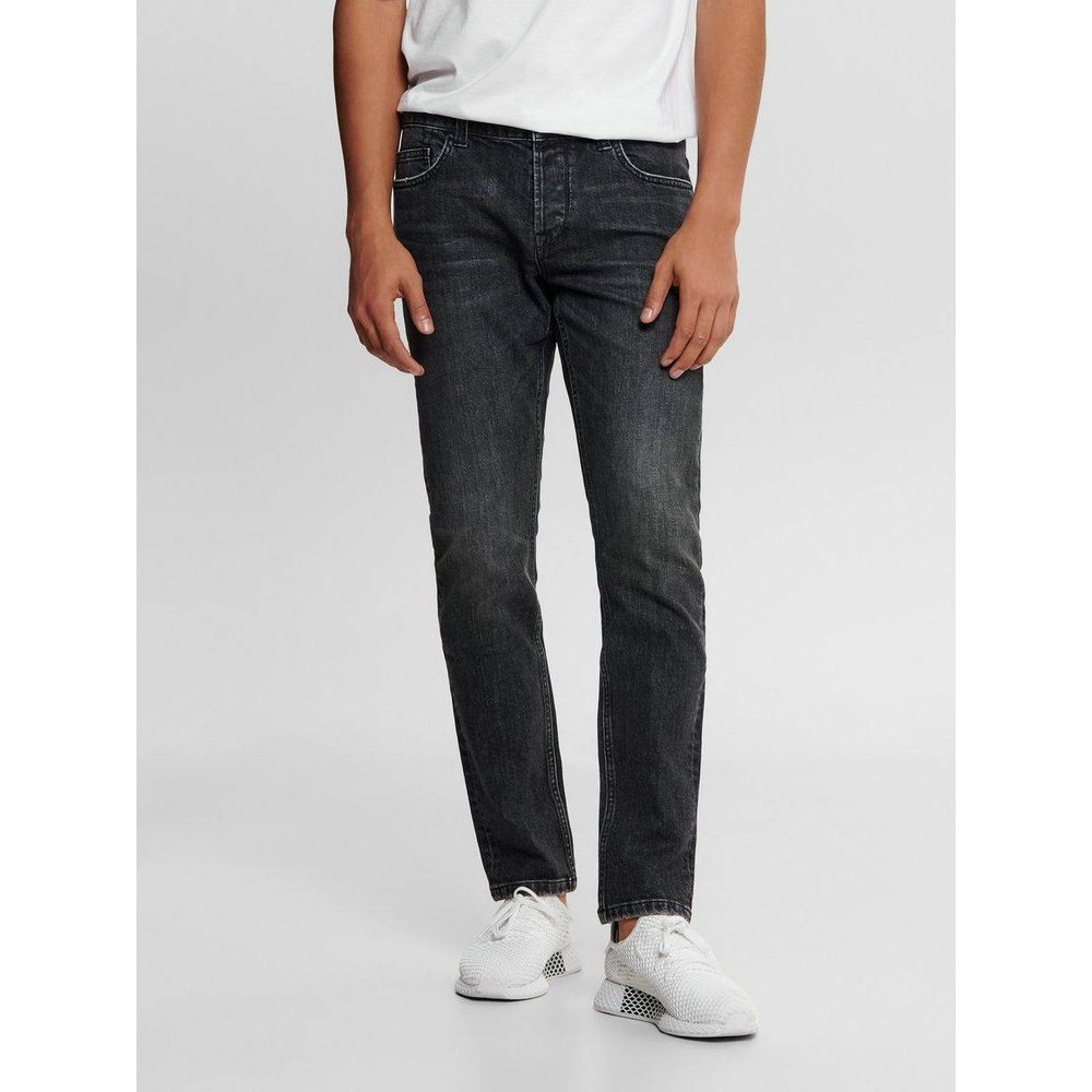 Jean slim ONSLoom noir - ONLY ET SONS - Modalova