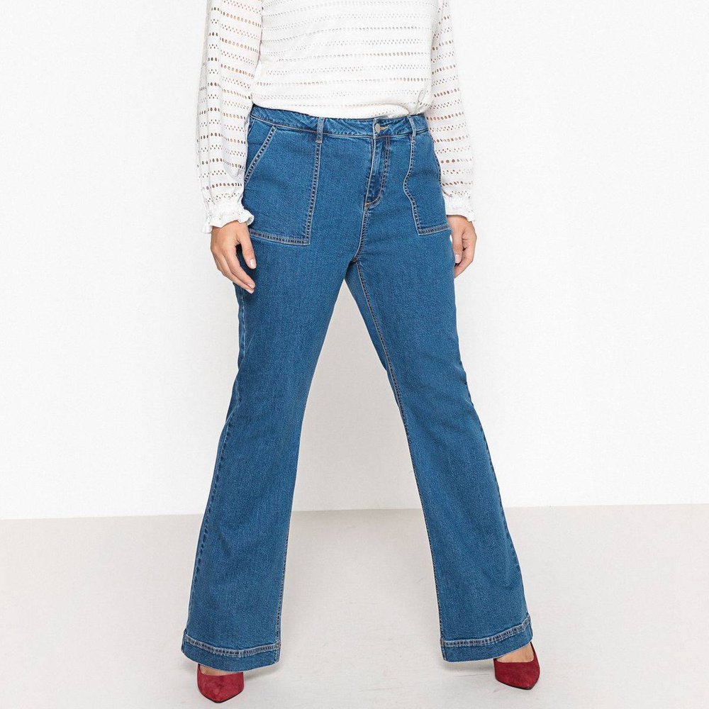 Jean flare, poches worker - LA REDOUTE COLLECTIONS PLUS - Modalova