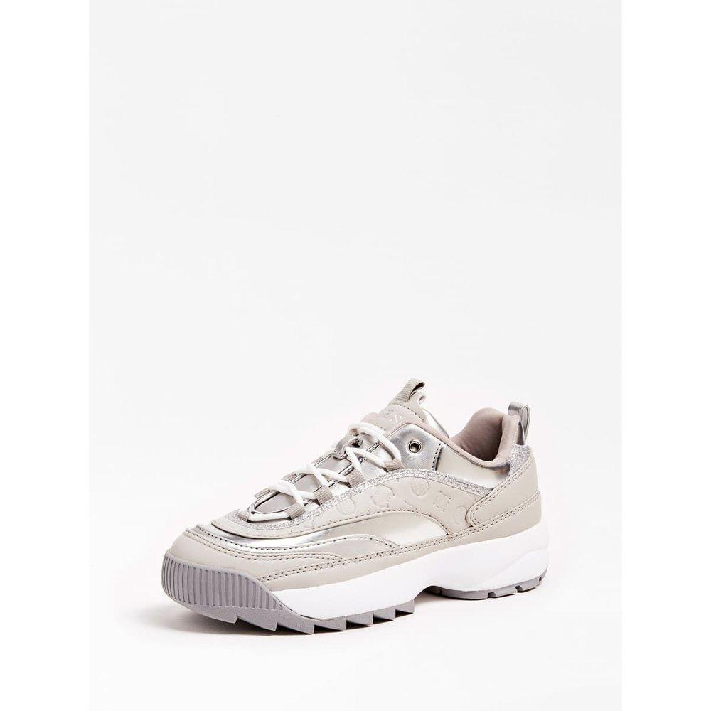 Sneaker Kaysie Contraste - Guess - Modalova