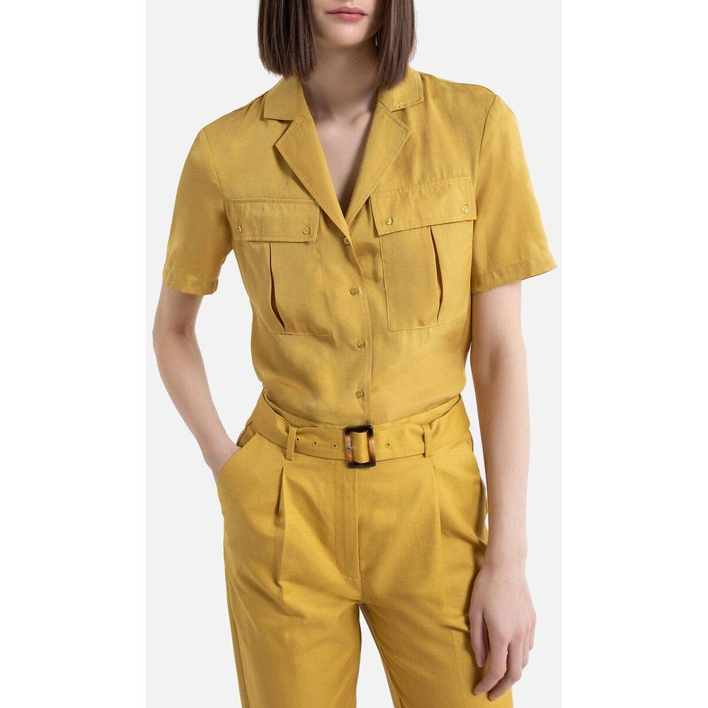 Chemise col tailleur, manches courtes - LA REDOUTE COLLECTIONS - Modalova