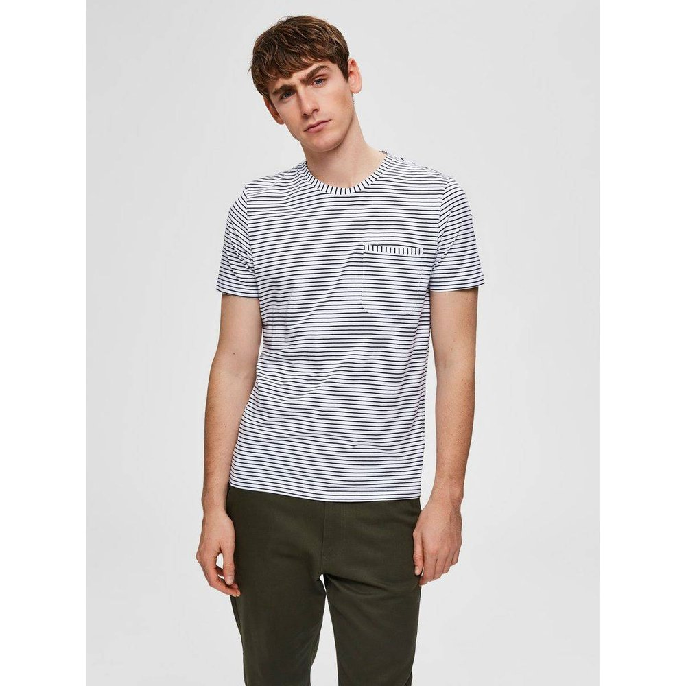 T-Shirt Rayures  - Selected Homme - Modalova