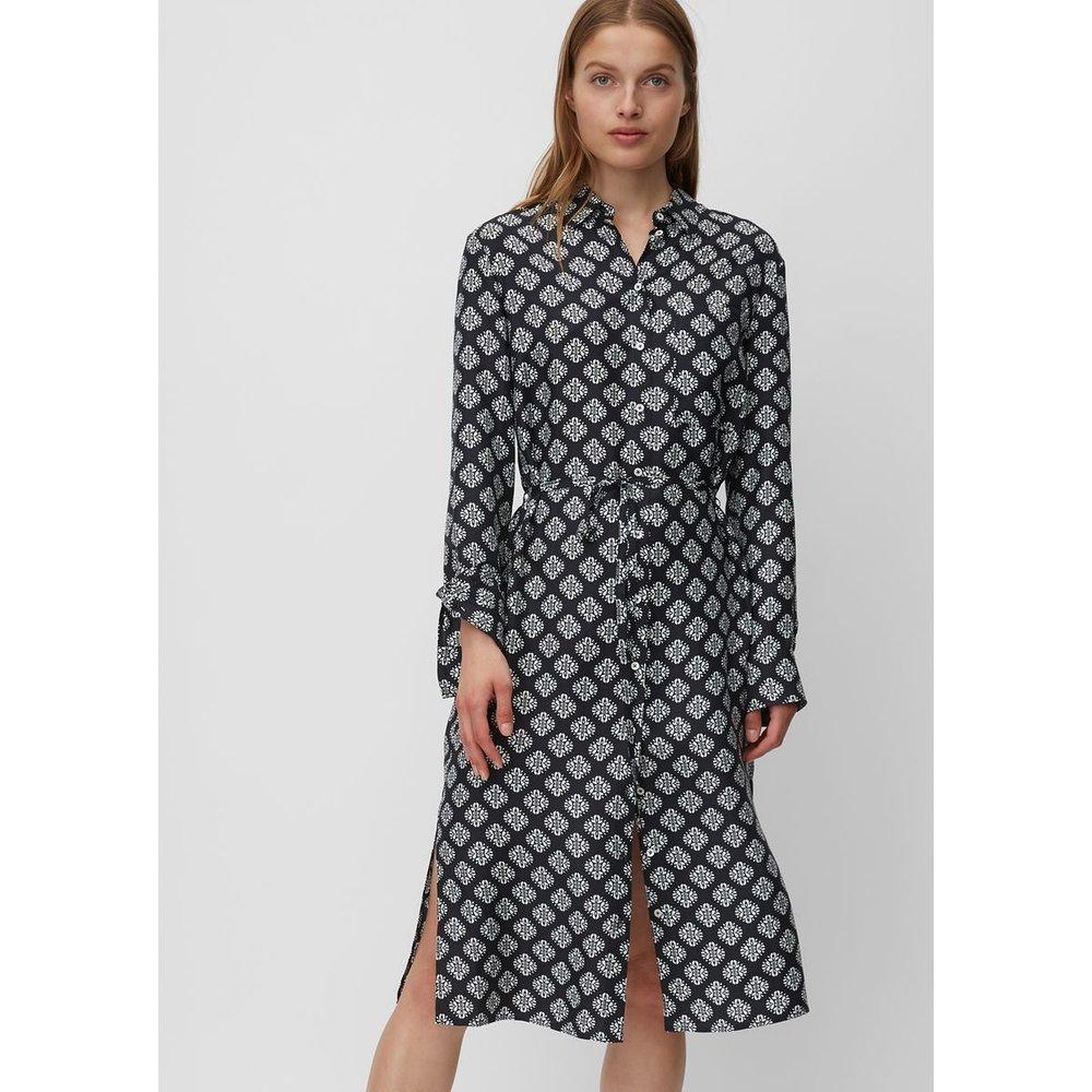 Robe-chemise en mélange de viscose et de soie - Marc O'Polo - Modalova
