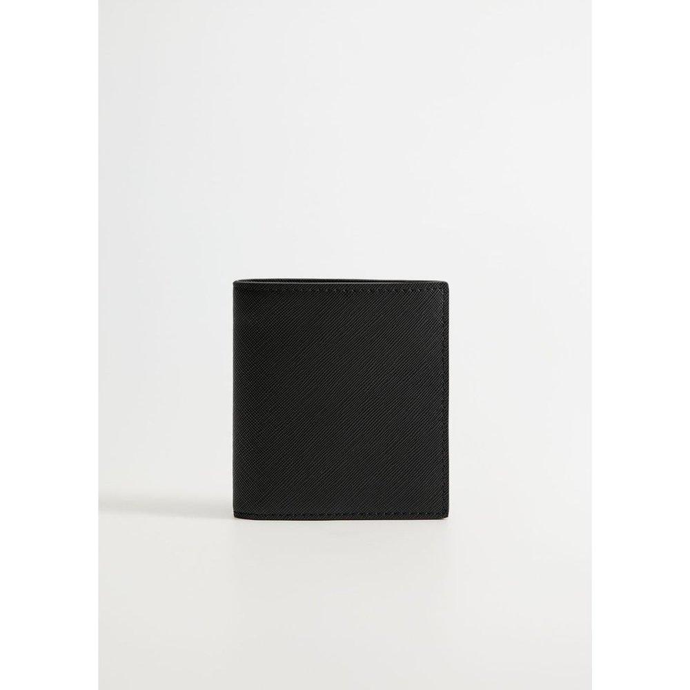 Porte-cartes effet saffiano - mango man - Modalova