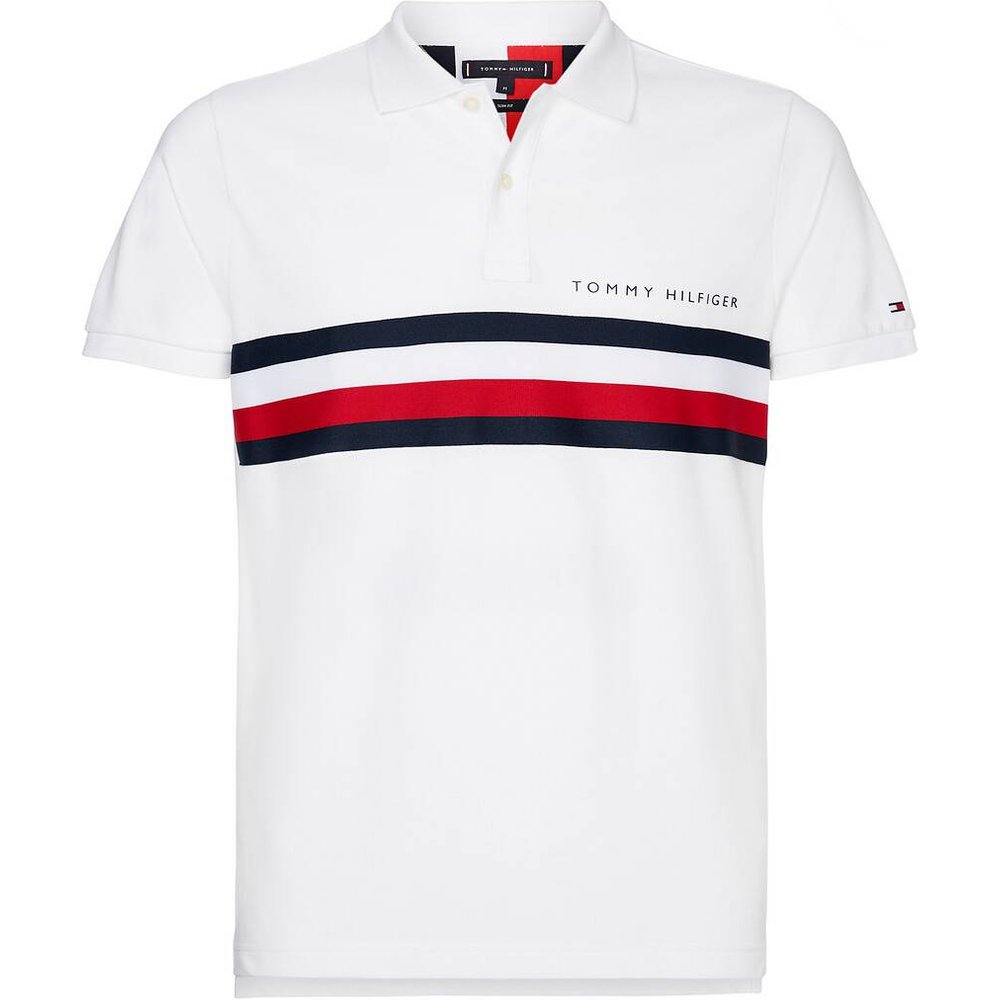 Polo slim Global Stripe Chest Tape - Tommy Hilfiger - Modalova