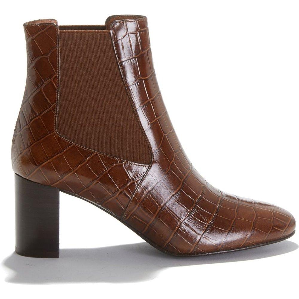 Boots à talon en cuir motif croco DAMOU - JONAK - Modalova