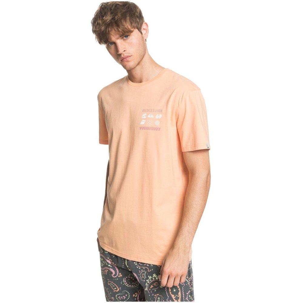 T-shirt col rond, manches courtes, imprimé - Quiksilver - Modalova