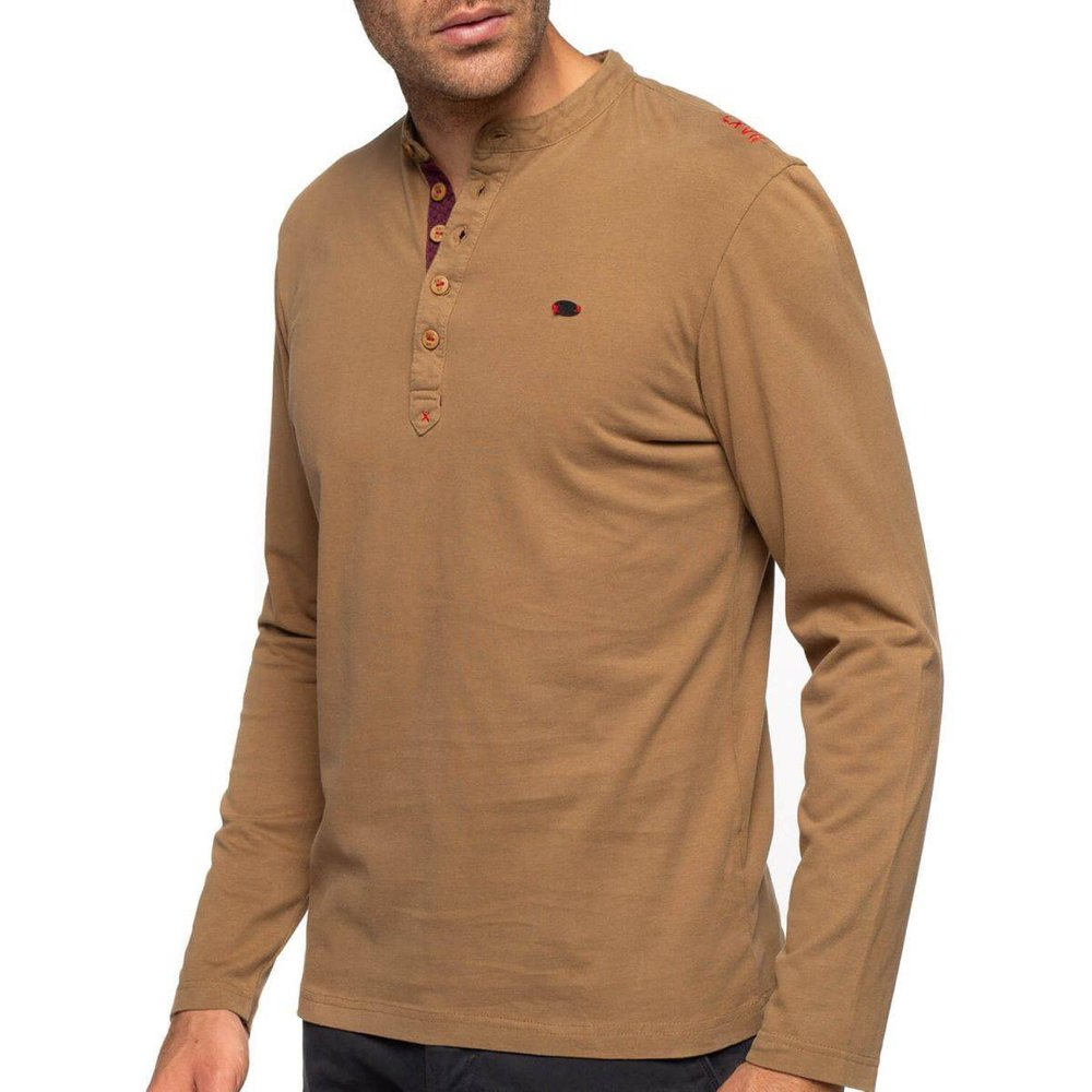 T-shirt col tunisien manches longues - SHILTON - Modalova