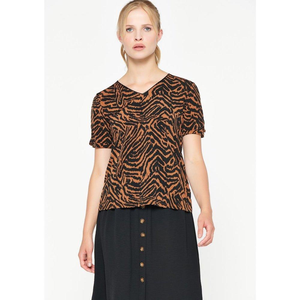 T-shirt imprimé tigre manches ouvertes - LOLALIZA - Modalova