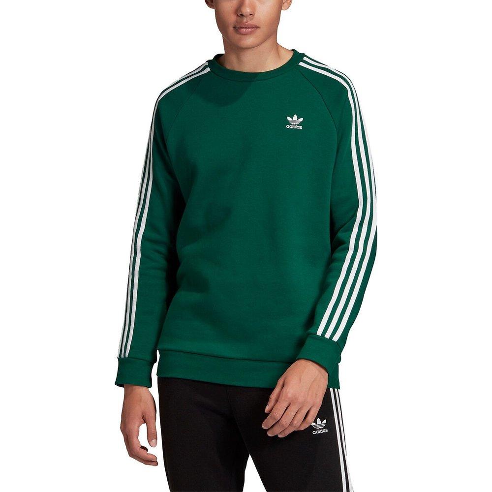Sweat col rond 3 bandes petit logo Trefoil - adidas Originals - Modalova