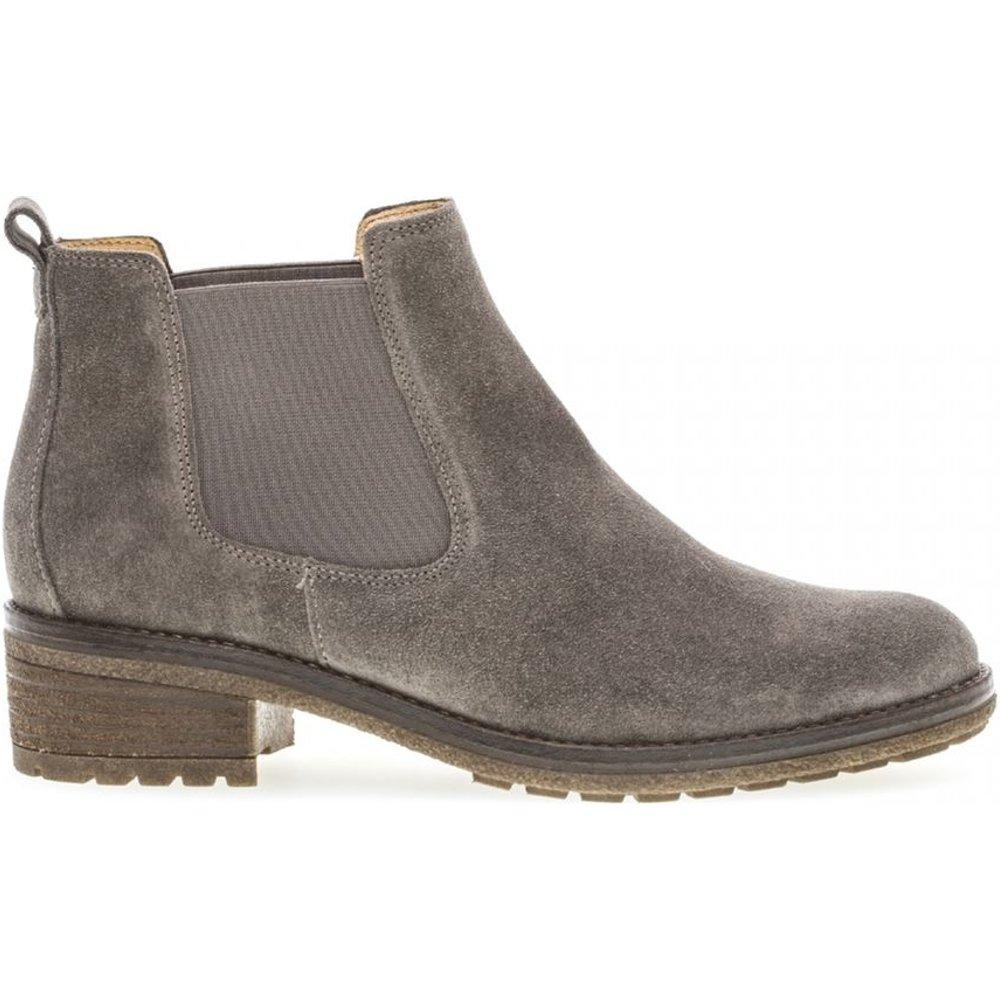 Boots velours talon décroché - Gabor - Modalova