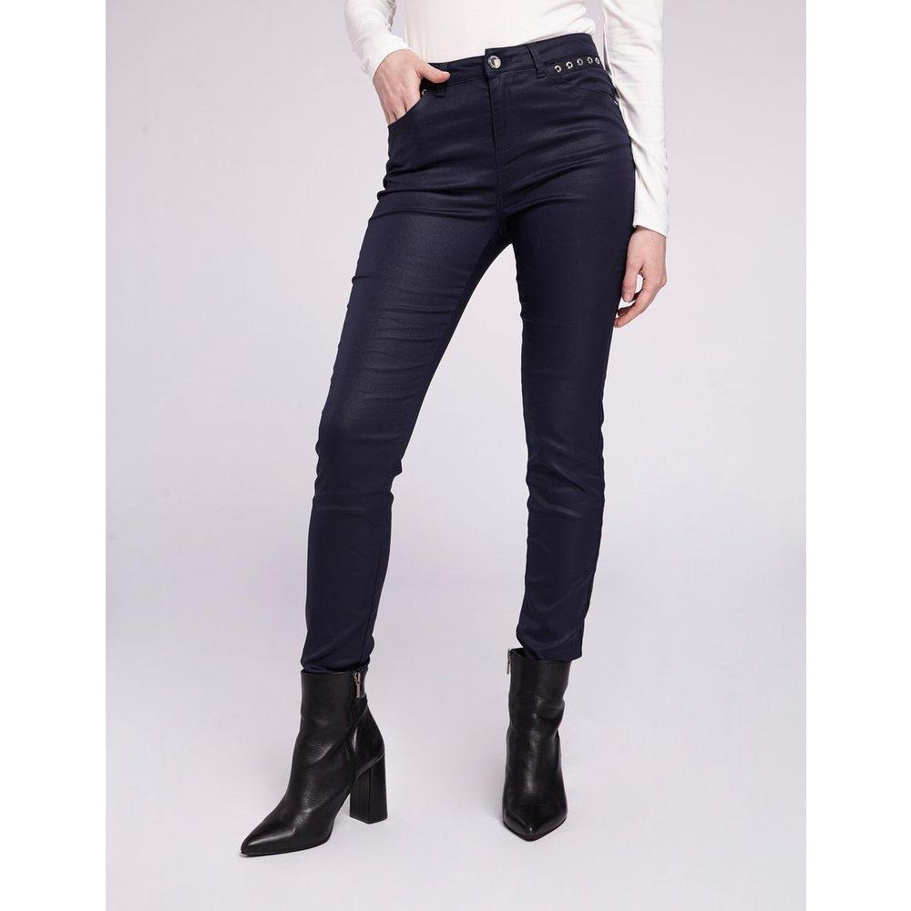 Pantalon slim à oeillets - Morgan - Modalova