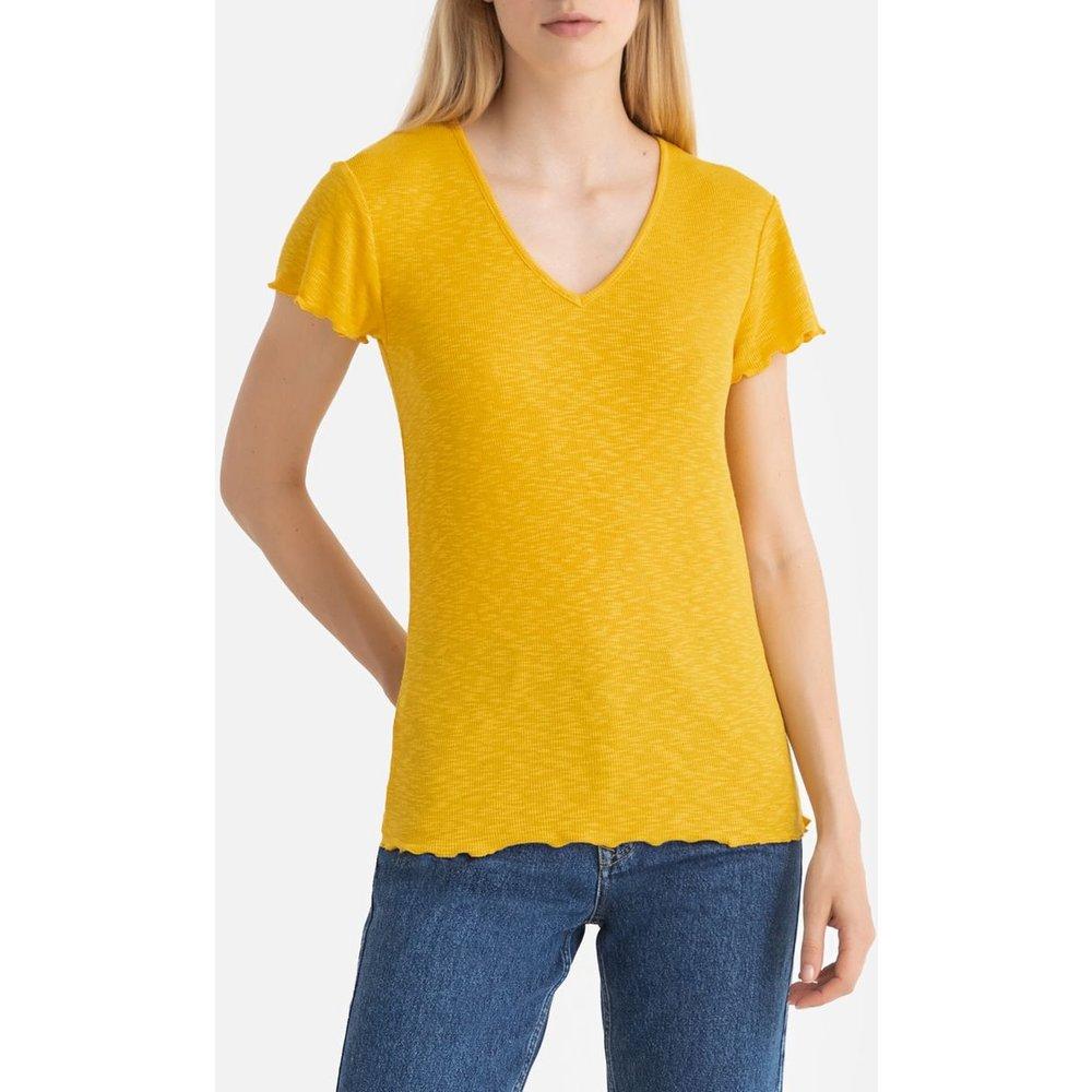 T-shirt col v manches courtes - LA REDOUTE COLLECTIONS - Modalova