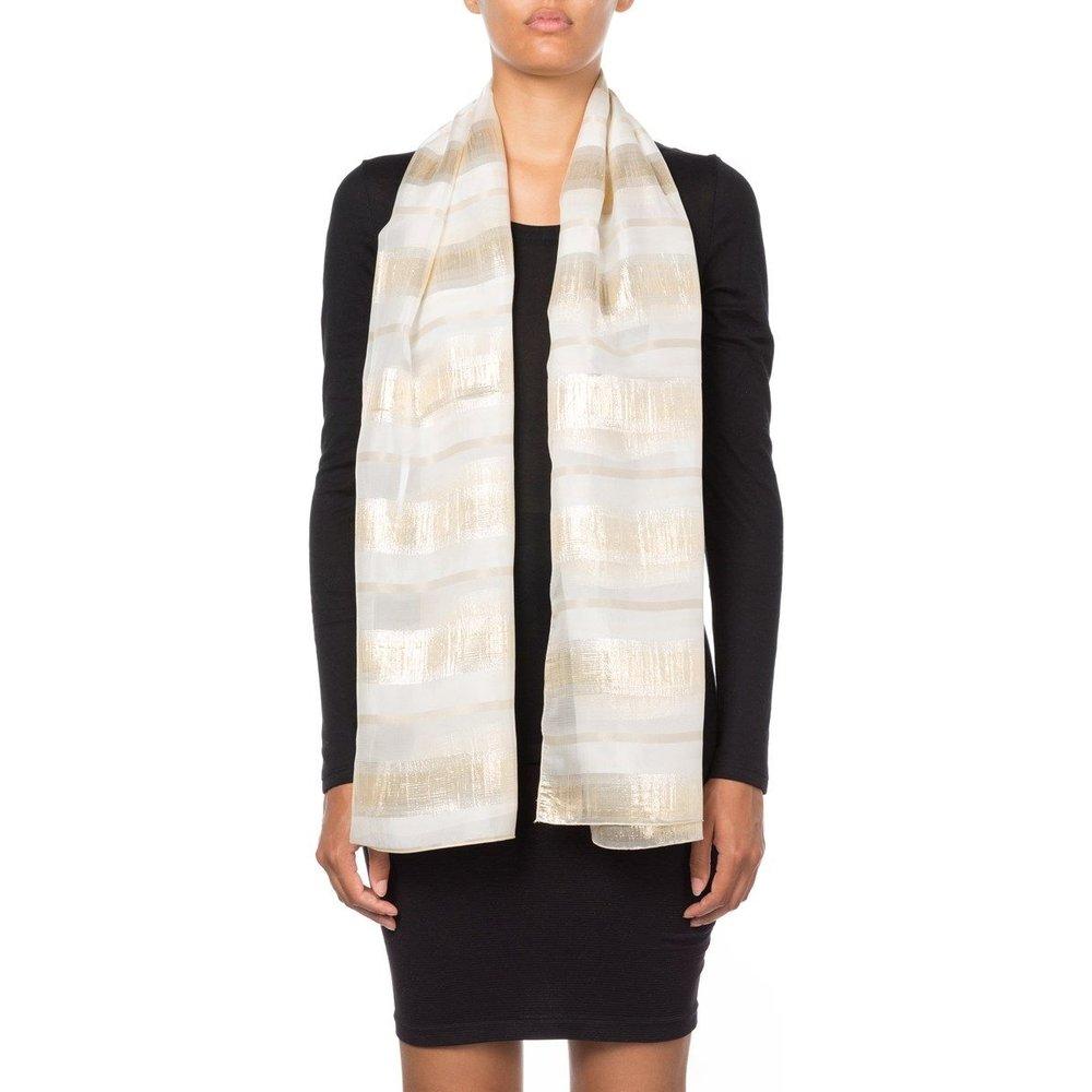 Foulard à rayures en soie et Fil textile Rosy - MAISON LUREX - Modalova