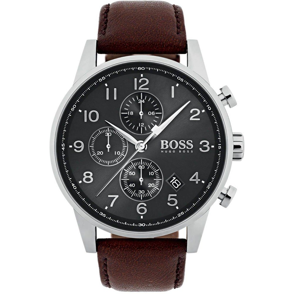 Montre en Cuir Marron - BOSS - HUGO BOSS - Modalova