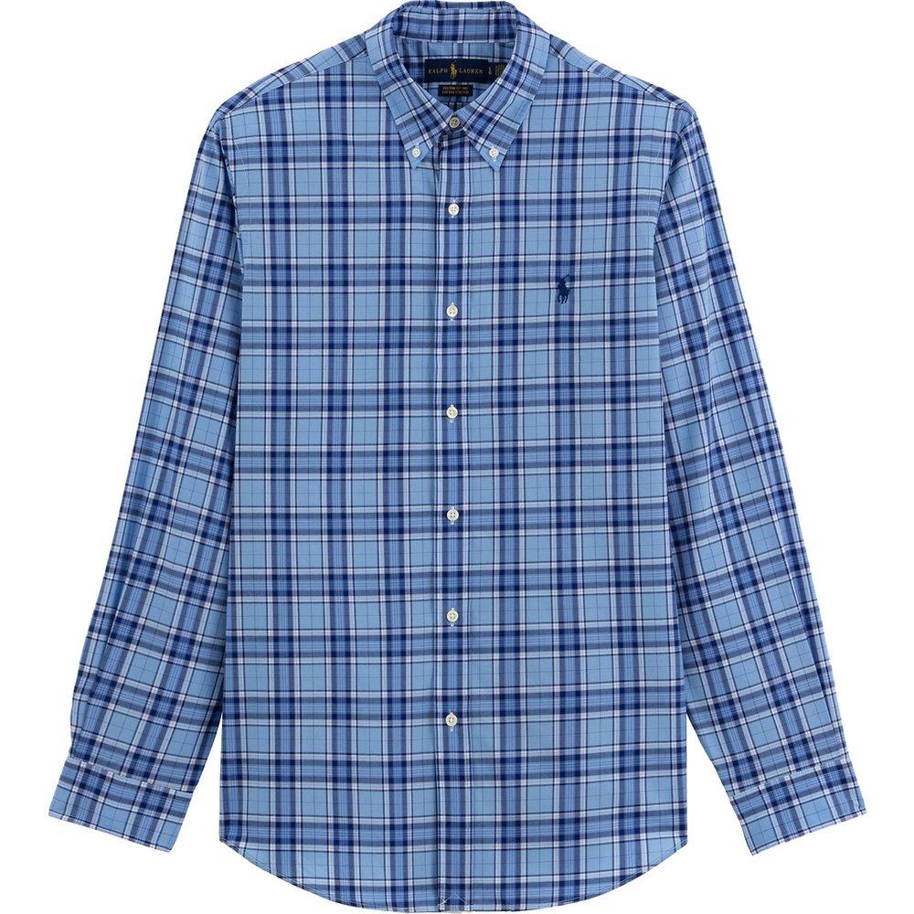 Chemise droite en popeline à carreaux - Polo Ralph Lauren - Modalova