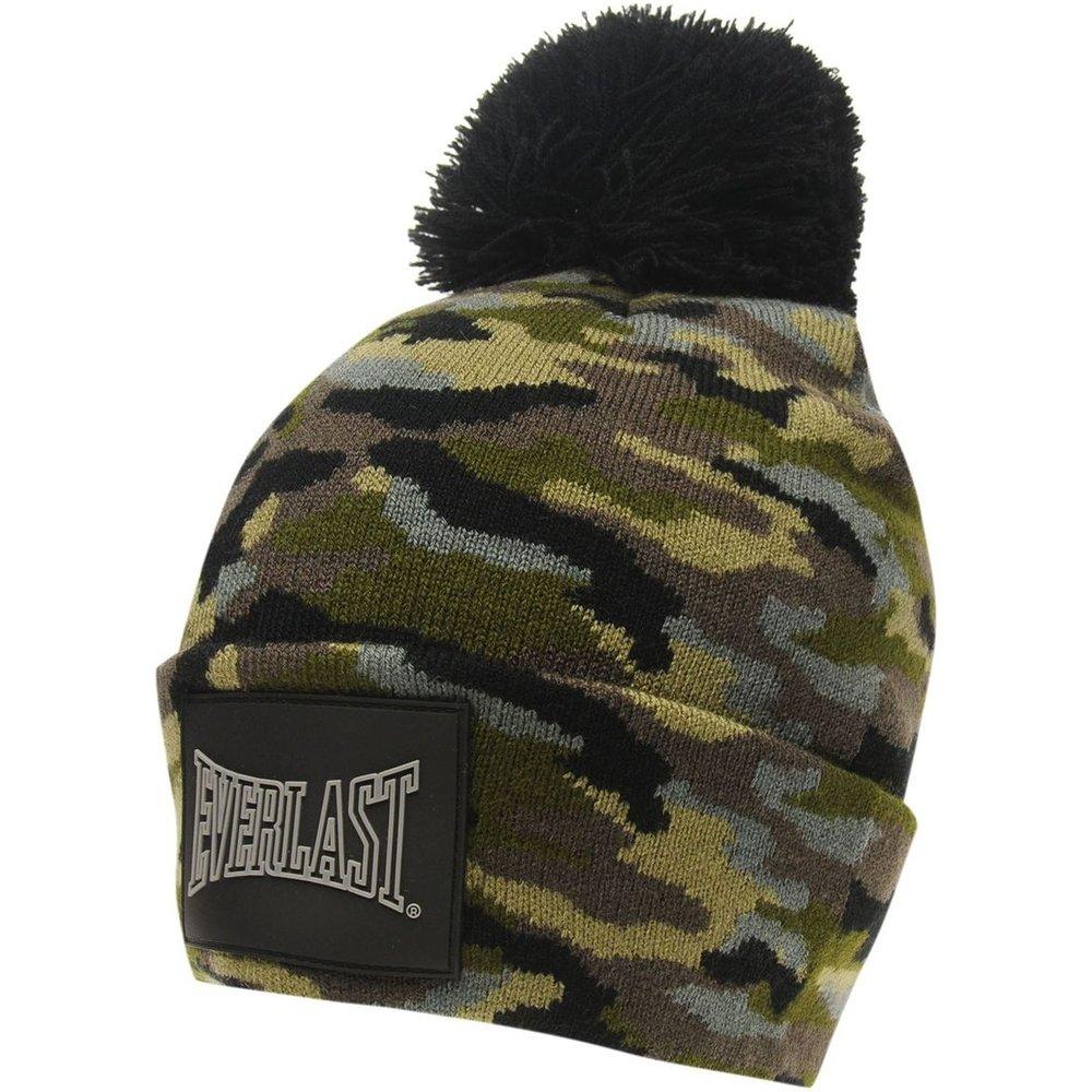 Bonnet à pompon tricot - Everlast - Modalova