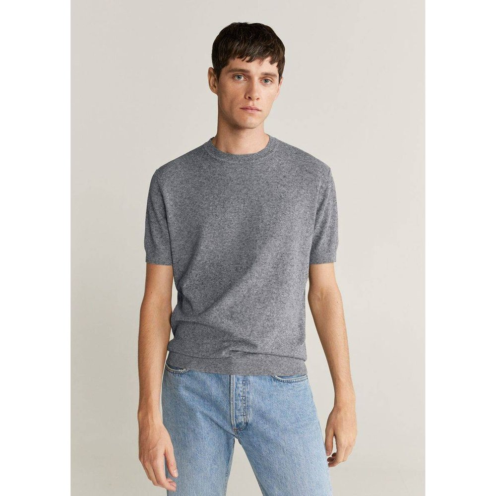 T-shirt maille coton lin - mango man - Modalova