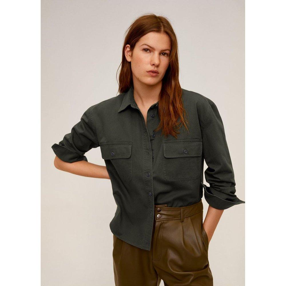 Chemise en coton avec poches - Mango - Modalova