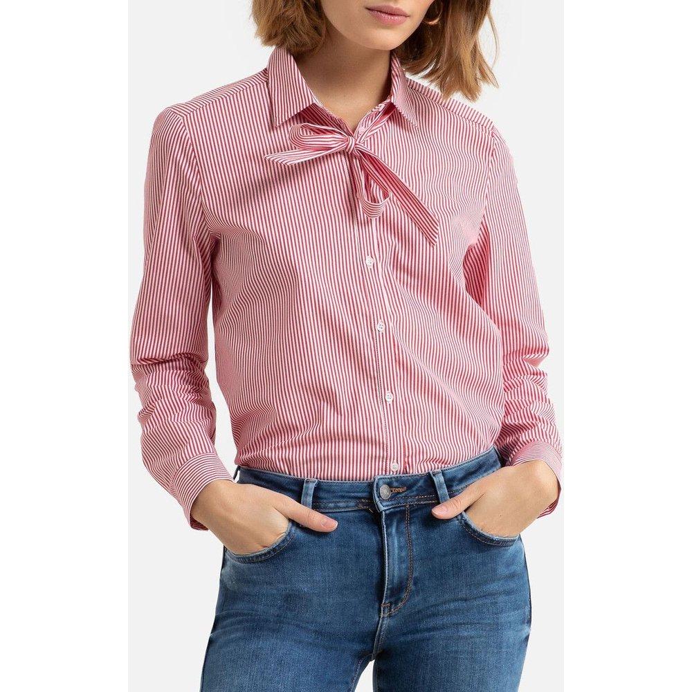 Chemise rayée col lavallière - Esprit - Modalova