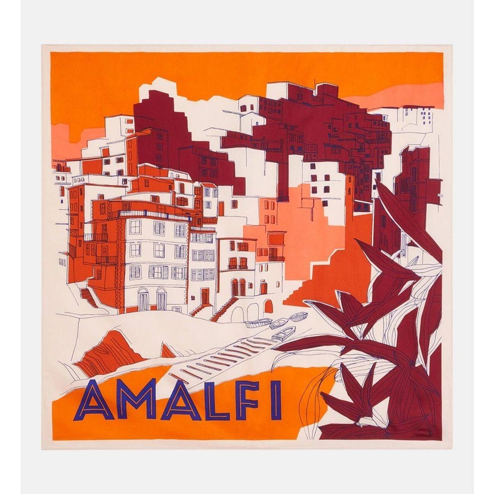 Carré Amalfi Soie Paysage - GALERIES LAFAYETTE - Modalova