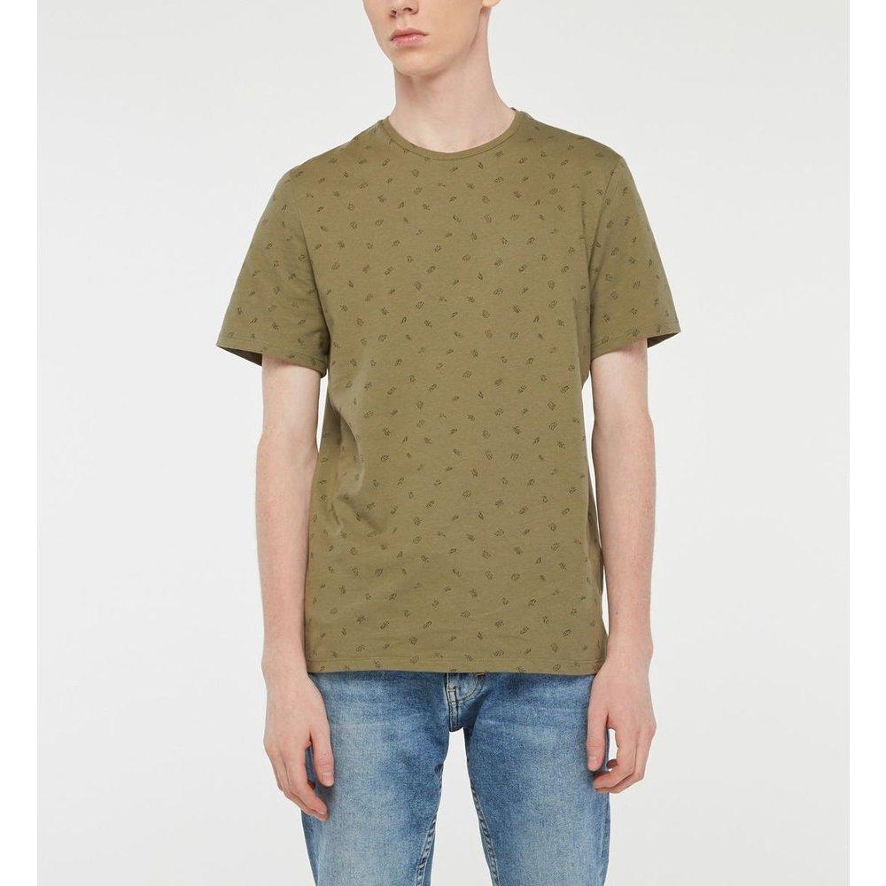 T-shirt Gopalm Droit Coton Micro Feuilles - GALERIES LAFAYETTE - Modalova
