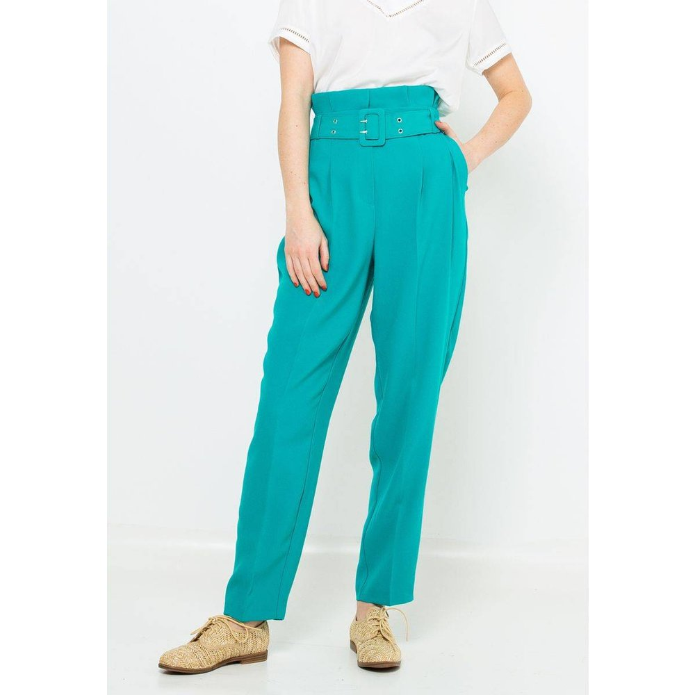 Pantalon taille haute - CAMAIEU - Modalova