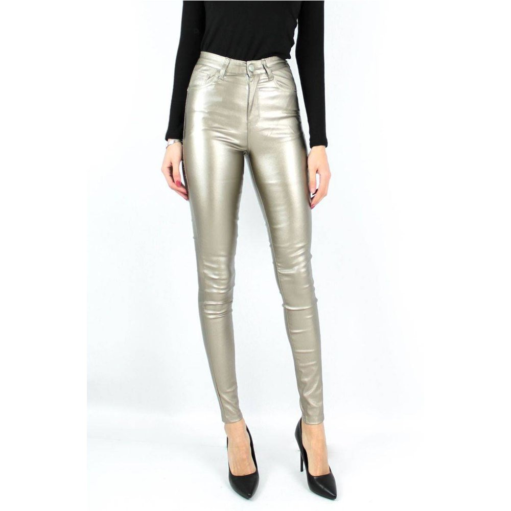 Jeans Simili cuir Push Up - KEBELLO - Modalova