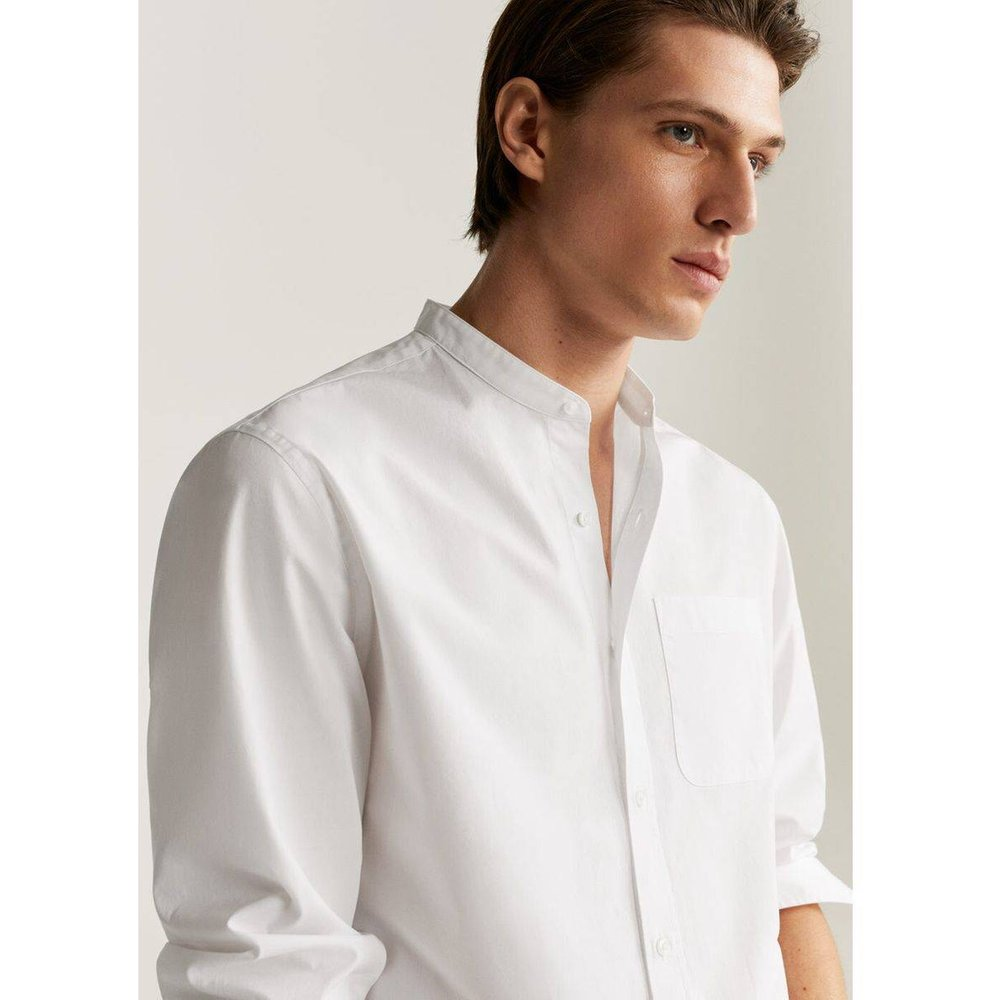 Chemise regular fit col mao - mango man - Modalova
