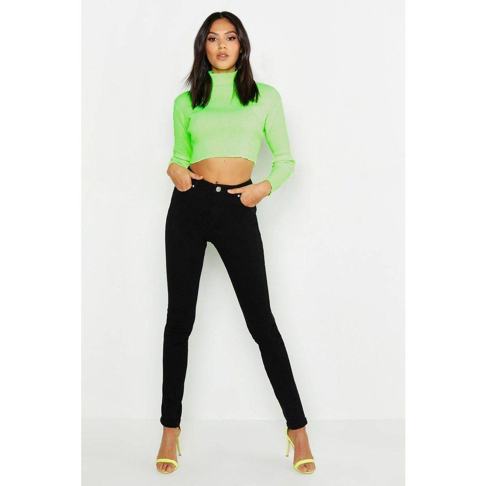Jean slim Taille Haute - BOOHOO - Modalova